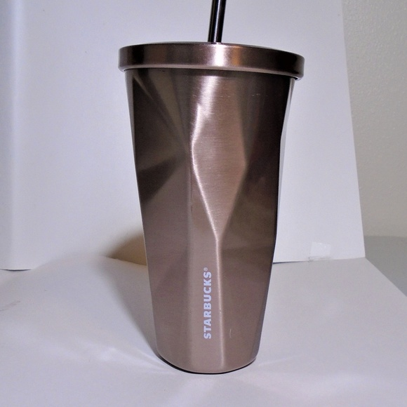 3e7dcedd677 Starbucks Rose Gold Stainless Steel Cold Cup Mug
